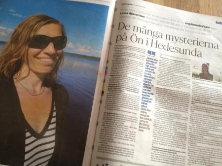 Reportage Linda Åkerström Gefle Dagblad