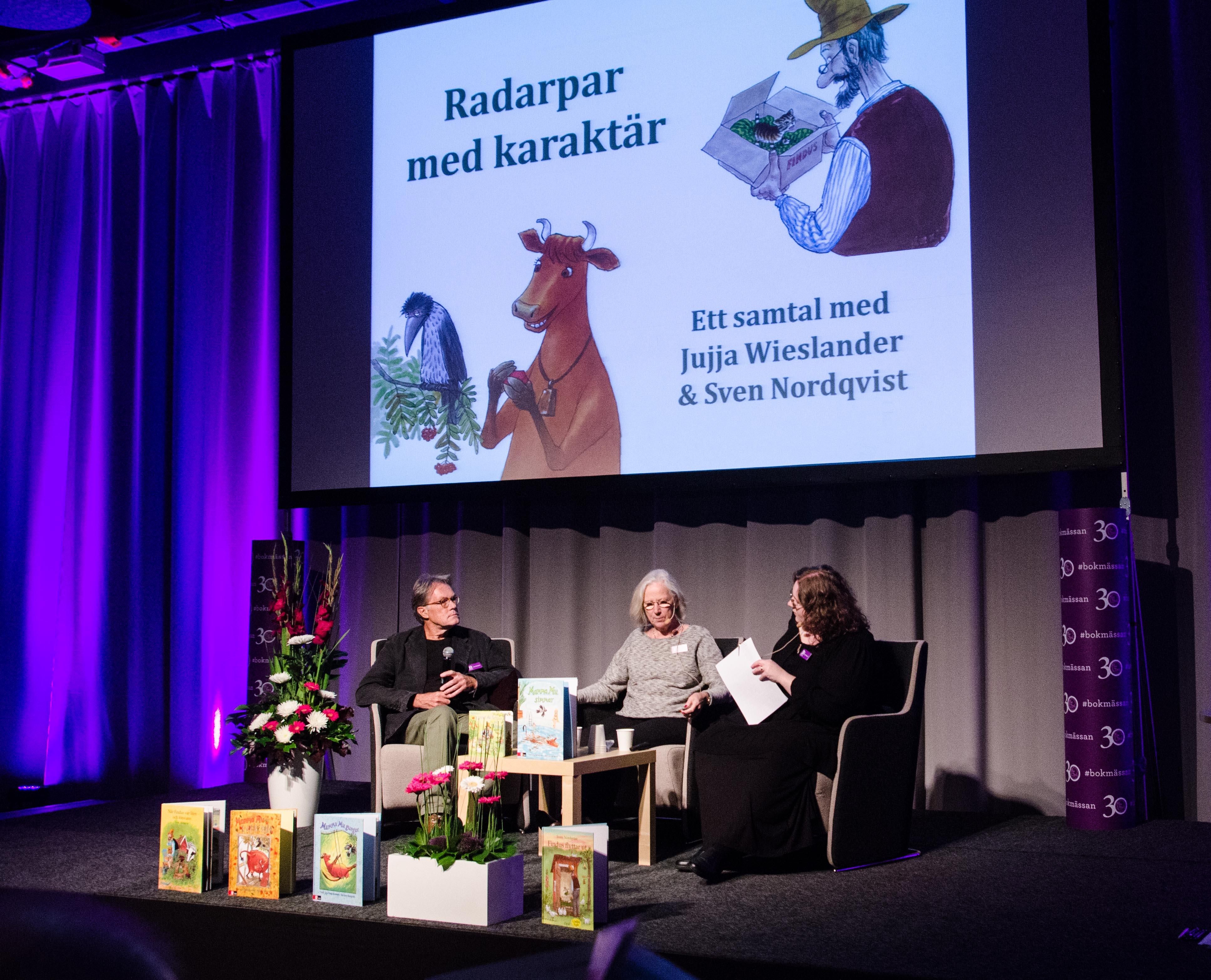 Jujja Wieslander och Sven Nordqvist