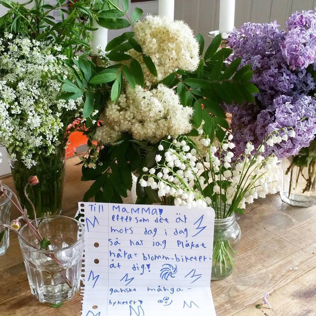Plkade blommbiketer r den finaste presenten
