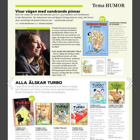 Lättläst barnbok på Nypon förlag. Linda Åkerström. Vandrande pinnar på rymmen.